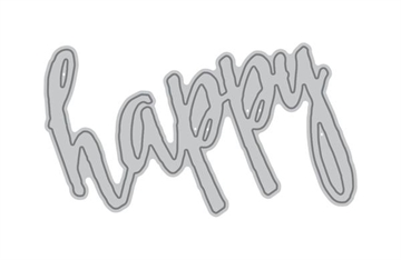 Happymade - Altenew die - Halftone happy