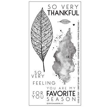 Concord & 9th clear stamp set - Lace leaf