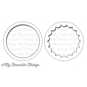 My Favorite Things die set - Peek-a-boo circle window (MFT-568)