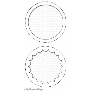 My Favorite Things die set - Jumbo Peek-a-boo circle window (MFT-719)
