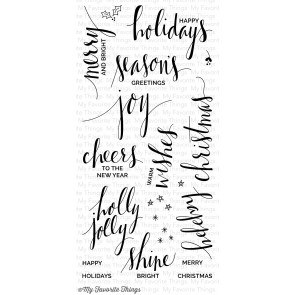 My Favorite Things clear stamp set - Hand lettered holiday (CS-83)