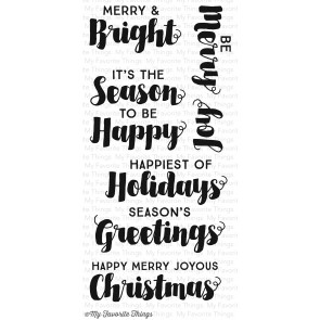 My Favorite Things clear stamp set - Joyous Christmas sentiments (CS-86)