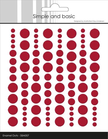 Happymade - Simple and basic - Enamel dots - Chili Red - SBA007 (pakn. m/96 stk.)