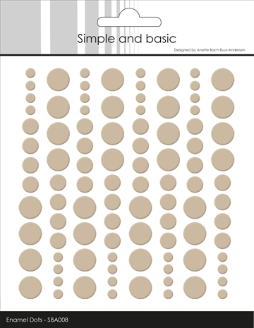 Happymade - Simple and basic - Enamel dots - Baileys Brown - SBA008 (pakn. m/96 stk.)