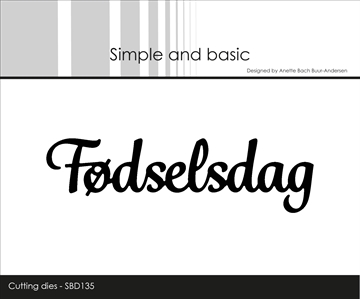Happymade - Simple and basic - Die - Fødselsdag (SBD135)