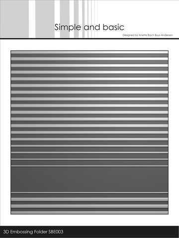 Happymade - Simple and basic - Embossing folder - Stripes - SBE003