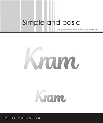 Happymade - Simple and basic - Hot Foil Plate - Kram (SBH004)