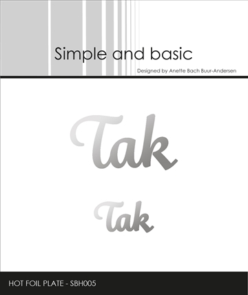 Happymade - Simple and basic - Hot Foil Plate - Tak (SBH005)