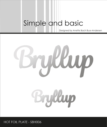 Happymade - Simple and basic - Hot Foil Plate - Bryllup (SBH006)