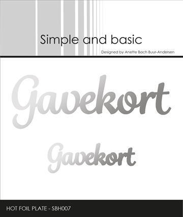Happymade - Simple and basic - Hot Foil Plate - Gavekort (SBH007)