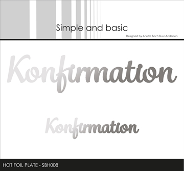 Happymade - Simple and basic - Hot Foil Plate - Konfirmation (SBH008)