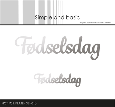 Happymade - Simple and basic - Hot Foil Plate - Fødselsdag (SBH010)