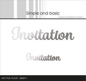 Happymade - Simple and basic - Hot Foil Plate - Invitation (SBH011)