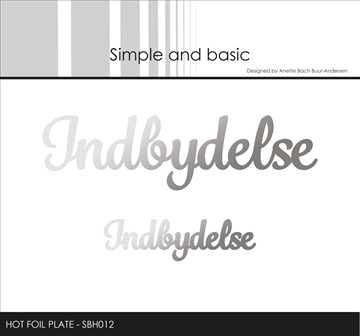 Happymade - Simple and basic - Hot Foil Plate - Indbydelse (SBH012)