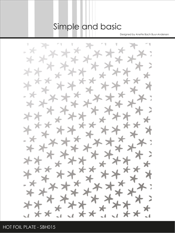 Happymade - Simple and basic - Hot Foil Plate - Small Stars (SBH015)