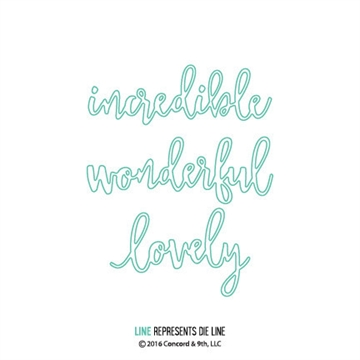 Happymade - Concord & 9th - Wonderful words - 10072